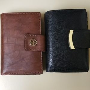 Giani Bernini soft leather Indexer wallet (black)
